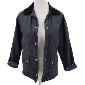 Barbour Kids Black Cottage Prints Jacket Coat 8/9
